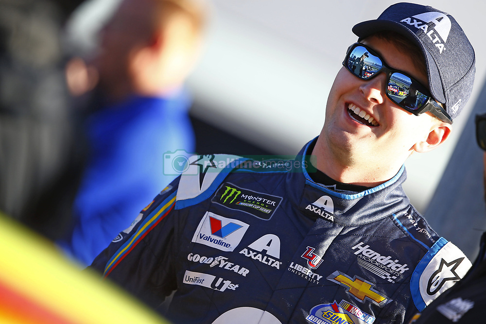 March 2, 2018 - Las Vegas, Nevada, United States of America - March 02, 2018 - Las Vegas, Nevada, USA: William Byron (24) hangs out on pit road before qualifying for the Pennzoil 400 at Las Vegas Motor Speedway in Las Vegas, Nevada. (Credit Image: © Chris Owens Asp Inc/ASP via ZUMA Wire)