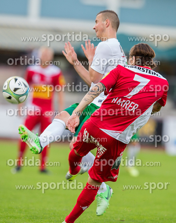 29.05.2015, Franz Fekete Stadion, Kapfenberg, AUT, 2. FBL, KSV 1919 vs Austria Lustenau, 36. Runde, im Bild Adnan Secerovic (FC Lustenau), David Harrer (Kapfenberger SV) // during the Austrian Erste Liga Match, 39th Round, between KSV 1919 and Austria Lustenau at the Franz Fekete Stadium, Kapfenberg, Austria on 2015/05/29, EXPA Pictures © 2015, PhotoCredit: EXPA/ Dominik Angerer