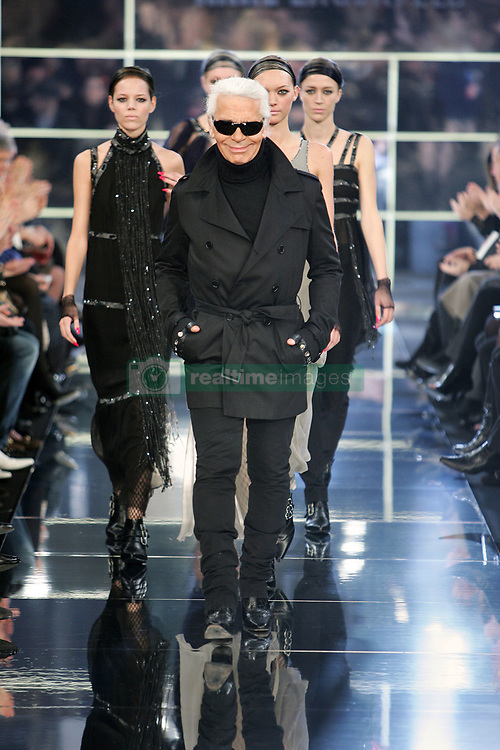 Karl Lagerfeld makes an appearance during his Fall-Winter 2007-2008 Ready-to-Wear collection presentation, held at the Sorbonne, in Paris, France, on February 28, 2007. Photo by Java/ABACAPRESS.COM