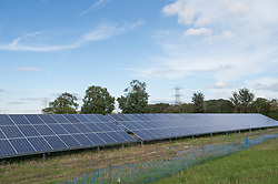 Solar Panels being installed at Parkwall Farm, Westonzoyland Road, Bridgewater.