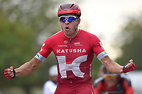 Arrival, KRISTOFF Alexander (NOR) Katusha, winner, during the 7th Tour of Oman 2016, Stage 3, Al Sawadi Beach - Naseem Park (176,5Km), on February 18, 2016 - Photo Tim de Waele / DPPI