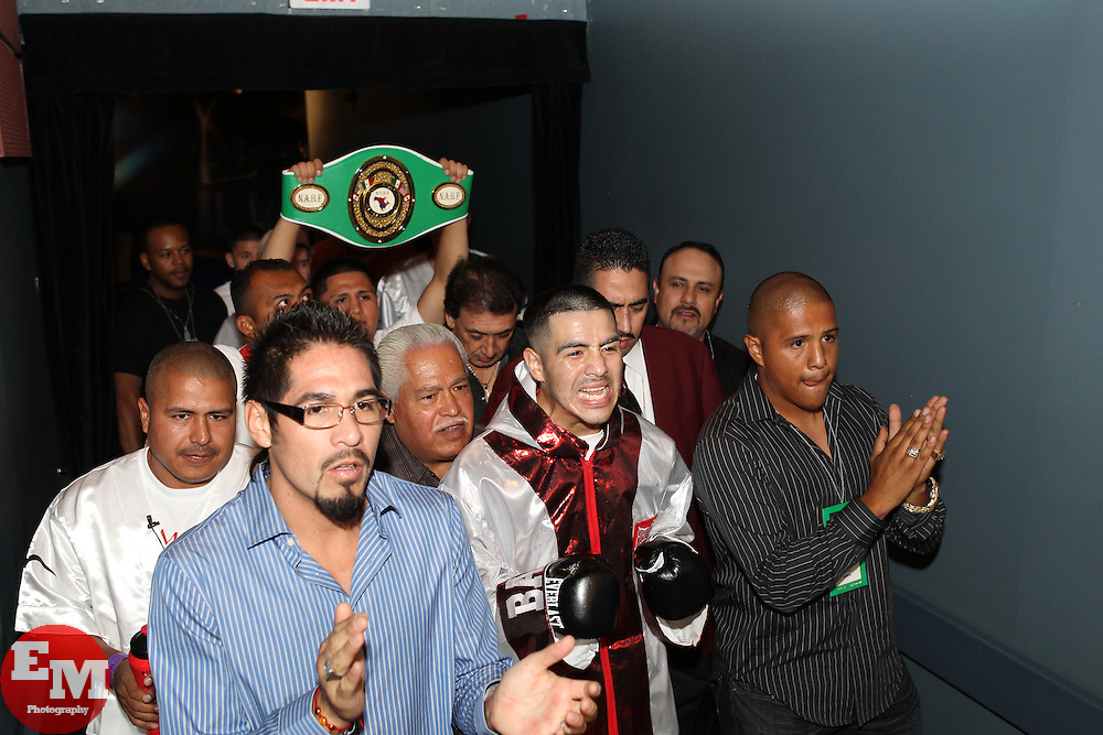 September 11, 2010; Las Vegas, NV; USA; Brandon Rios and Anthony Peterson during their lightweight bout at the Pearl at the Palms.