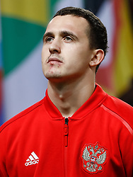 November 20, 2018 - Stockholm, Sweden - Andrey Lunev of Russia looks on during the UEFA Nations League B Group 2 match between Sweden and Russia on November 20, 2018 at Friends Arena in Stockholm, Sweden. (Credit Image: © Mike Kireev/NurPhoto via ZUMA Press)