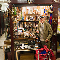 LONDON, ENGLAND - JANUARY 16:  The stall of Captain's Cornerinside one of the antiques galleries on Portobello Road on January 16, 2010 in London, England. Portobello traders fear for the Market's future after Lipka's Antiques Arcade, where more than 150 traders had their stalls, was redeveloped to accommodate a large High street chain store.  (Photo by Marco Secchi/Getty Images)