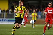 Lloyd Kerry of Harrogate Town (17) in action during the Vanarama National League match between Harrogate Town and Leyton Orient at Wetherby Road, Harrogate, United Kingdom on 22 September 2018.