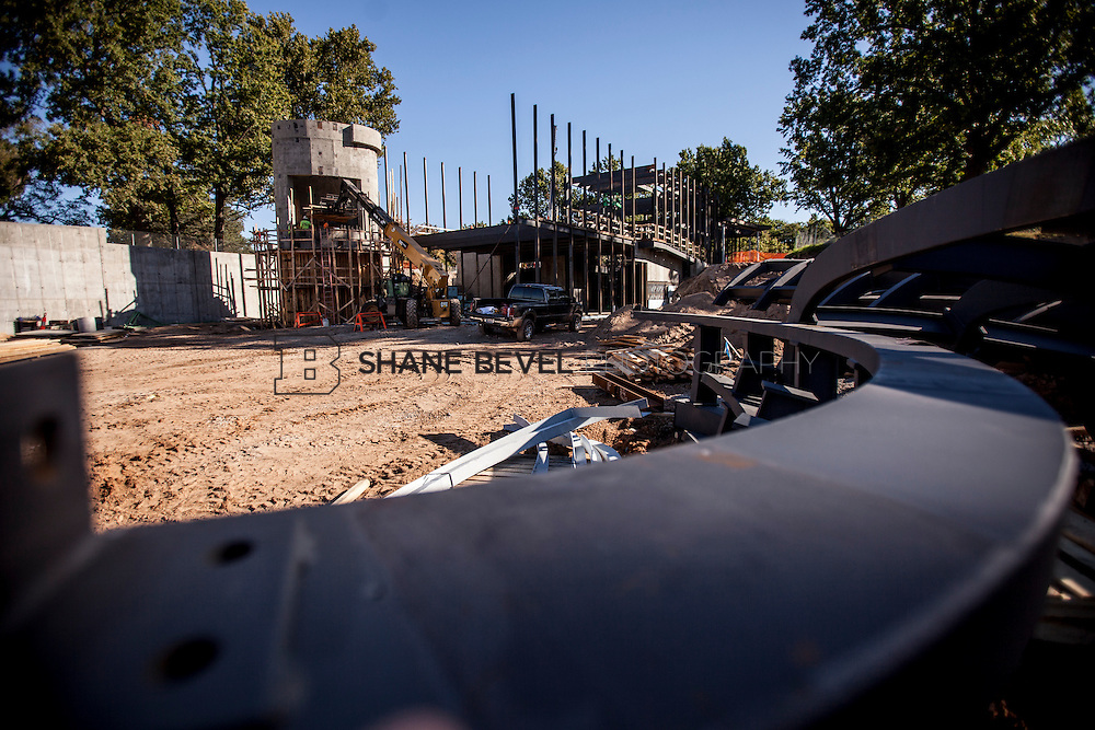 9/30/16 9:49:01 AM -- Lodge construction update. Mist Mountain Foundations, Peggy's Pond Rock install. <br /> <br /> Photo by Shane Bevel