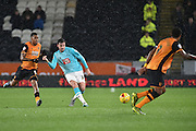 Derby County's George Thorne  during the Sky Bet Championship match between Hull City and Derby County at the KC Stadium, Kingston upon Hull, England on 27 November 2015. Photo by Ian Lyall.