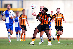 Abel Hernandez of Hull City takes on Ryan Broom of Bristol Rovers - Mandatory by-line: Robbie Stephenson/JMP - 18/07/2017 - FOOTBALL - Estadio da Nora - Albufeira,  - Hull City v Bristol Rovers - Pre-season friendly