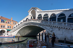 A general view of the Ponte di Rialto in Venice. From a series of travel photos in Italy. Photo date: Tuesday, February 12, 2019. Photo credit should read: Richard Gray/EMPICS
