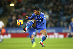 Leicester City's Demarai Gray in action during the Premier League match at the King Power Stadium, Leicester.