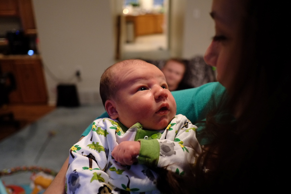 Baby Nicholas at Harold and Nicole's House in Williamstown, NJ on Monday July 1, 2013. (photo / Mat Boyle)