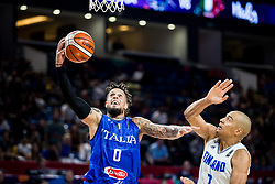 Daniel Hackett of Italy vs Shawn Huff of Finland during basketball match between National Teams of Finland and Italy at Day 10 in Round of 16 of the FIBA EuroBasket 2017 at Sinan Erdem Dome in Istanbul, Turkey on September 9, 2017. Photo by Vid Ponikvar / Sportida
