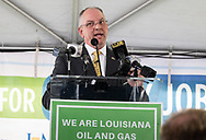 Governor of Louisiana, John Bel Edwards speaking at a Grow Louisiana Coalition event on 'Oil and Natural Gas Industry Day'  in Baton Rouge, Louisana  on May 1, 2019
