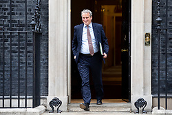 © Licensed to London News Pictures. 04/09/2018. London, UK. Education Secretary Damian Hinds leaves Downing Street after attending a Cabinet meeting this morning. Photo credit : Tom Nicholson/LNP
