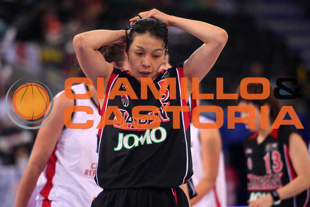 DESCRIZIONE : Madrid 2008 Fiba Olympic Qualifying Tournament For Women Quater Finals Czech Republic Japan <br /> GIOCATORE : Koiso <br /> SQUADRA : Japan Giappone <br /> EVENTO : 2008 Fiba Olympic Qualifying Tournament For Women <br /> GARA : Czech Republic Japan Repubblica Ceca Giappone <br /> DATA : 13/06/2008 <br /> CATEGORIA : Delusione <br /> SPORT : Pallacanestro <br /> AUTORE : Agenzia Ciamillo-Castoria/S.Silvestri <br /> Galleria : 2008 Fiba Olympic Qualifying Tournament For Women <br /> Fotonotizia : Madrid 2008 Fiba Olympic Qualifying Tournament For Women Quater Finals Czech Republic Japan <br /> Predefinita :