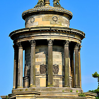 Burns Monument in Edinburgh, Scotland<br />