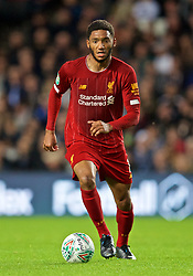 MILTON KEYNES, ENGLAND - Wednesday, September 25, 2019: Liverpool's Joe Gomez during the Football League Cup 3rd Round match between MK Dons FC and Liverpool FC at Stadium MK. (Pic by David Rawcliffe/Propaganda)