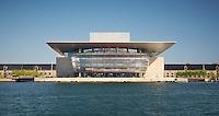 Copenhagen Opera House Façade on a clear day.