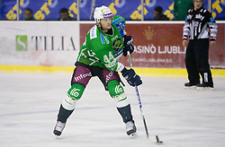 Harlan Pratt of Olimpija  during 52nd Round of EBEL league ice-hockey match between HDD Tilia Olimpija, Ljubljana and EV Vienna Capitals, on February 7, 2010 in Arena Tivoli, Ljubljana, Slovenia. Vienna defeated Olimpija 8-2. (Photo by Vid Ponikvar / Sportida)
