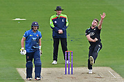 Stuart Meaker (Surrey) bowling during the Royal London 1 Day Cup match between Surrey County Cricket Club and Kent County Cricket Club at the Kia Oval, Kennington, United Kingdom on 12 May 2017. Photo by Jon Bromley.