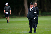 Oakland Raiders Head Coach Jon Gruden during the practice session for Oakland Raiders at the Grove Hotel, Chandlers Cross, United Kingdom on 4 October 2019.