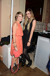 Left to right, LOUISE OSBOURNE and AMBER LE BON at the Juicy Couture - Viva La Juicy perfume Party held at Home House, Portman Square, London on 30th May 2013.