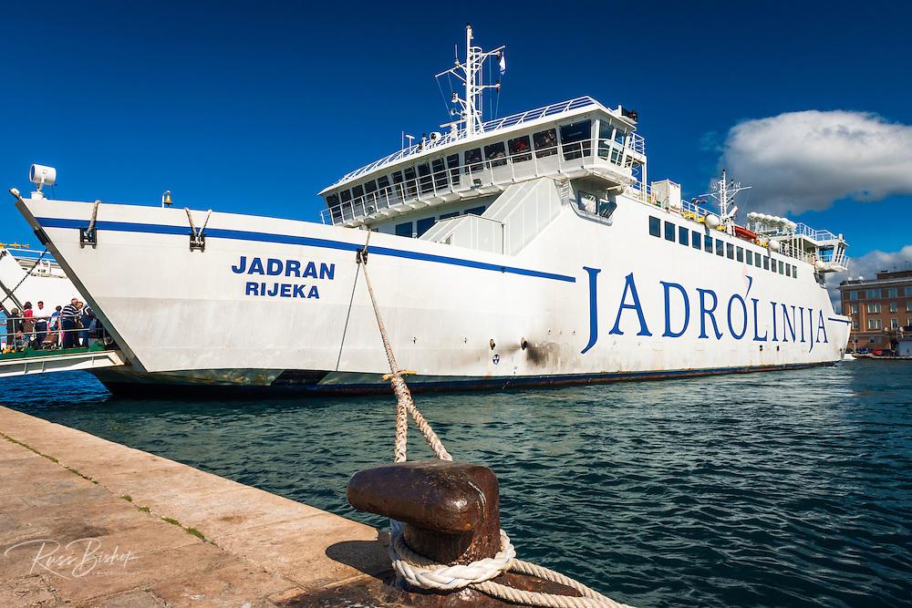 Ferry at dock, Zadar, Dalmatian Coast, Croatia