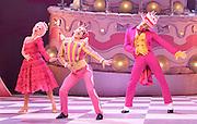 Matthew Bourne's<br /> Nutcracker!<br /> at Sadler's Wells, London, great Britain <br /> Press photocall<br /> 8th December 2011 <br /> <br /> Hannah Vassallo (as Clara)<br /> Chris Trenfield (as Nutcracker)<br /> Dominic North (as Prince Bob Bon)<br /> Daniel Wright as King Sherbert <br /> Daisy May Kemp as Queen Candy <br /> Sophia Hurdley and Liam Mower as Cupids<br /> Phil Jack Gardner as Humbug Bouncer<br /> Tom Jackson Greaves, Alastair Postlethwaite,  Katy Lowenhoff (as The Liquorice Allsorts)<br /> Adam maskell as Knickerbocker Glory<br /> Nicole Kabera, Mari Kamata, Daisy May Kemp, Dena Lague, Kate Lyons as Marshmallow Girls<br /> Luke Murphy<br /> Gavin Persand<br /> Danny Reubens as The Gobstoppers<br /> <br /> <br /> Photograph by Elliott Franks
