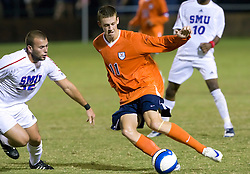 Virginia Cavaliers midfielder Jimmy Simpson (11).  The #18 ranked Virginia Cavaliers fell to the #14 ranked Southern Methodist Mustangs 3-1 in NCAA men's soccer at Klockner Stadium on the Grounds of the University of Virginia in Charlottesville, VA on August 31, 2008.
