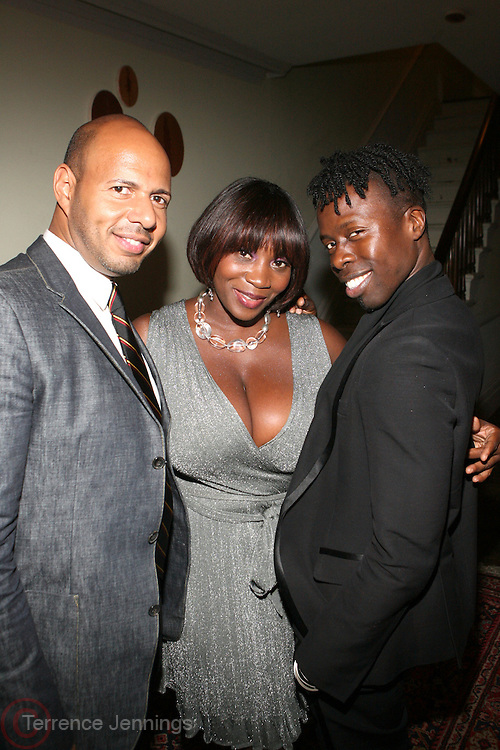 l to r: Emil Welbekin, Beverly Smith and Memsor Kamarake at The VIBE Magazine & Memsor Kamarake and Beverly Smith Salute to Black Men In Fashion ? NY Fashion Week Fall ?08 held Norwood on September 11, 2008