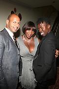 l to r: Emil Welbekin, Beverly Smith and Memsor Kamarake at The VIBE Magazine & Memsor Kamarake and Beverly Smith Salute to Black Men In Fashion ? NY Fashion Week Fall ?08 held Norwood on September 11, 2008