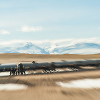 oil train hauling bakken oil across the blackfeet reservation and glacier national park, montana contact tony@tonybynum.com for more images