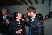 SARAH SZE; ANRIL SALA, Bloomberg Venice Conversations, Siddhartha Mukherjee, Rirkrit Tiravanija and Tomas Vu Daniel cook lunch for Sarah Sze. Palazzo Peckham. Venice. Venice Bienalle. 31 May 2013