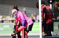 UTRECHT Hockey Play Off<br /> Kampong - Oranje - Rood<br /> Foto: Penalty corner<br /> WORLDSPORTPICS COPYRIGHT FRANK UIJLENBROEK