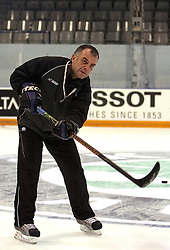 Assistant coach Matjaz Kopitar at practice of Slovenian national team at Hockey IIHF WC 2008 in Halifax,  on May 01, 2008 in Forum Centre, Halifax, Canada.  (Photo by Vid Ponikvar / Sportal Images)