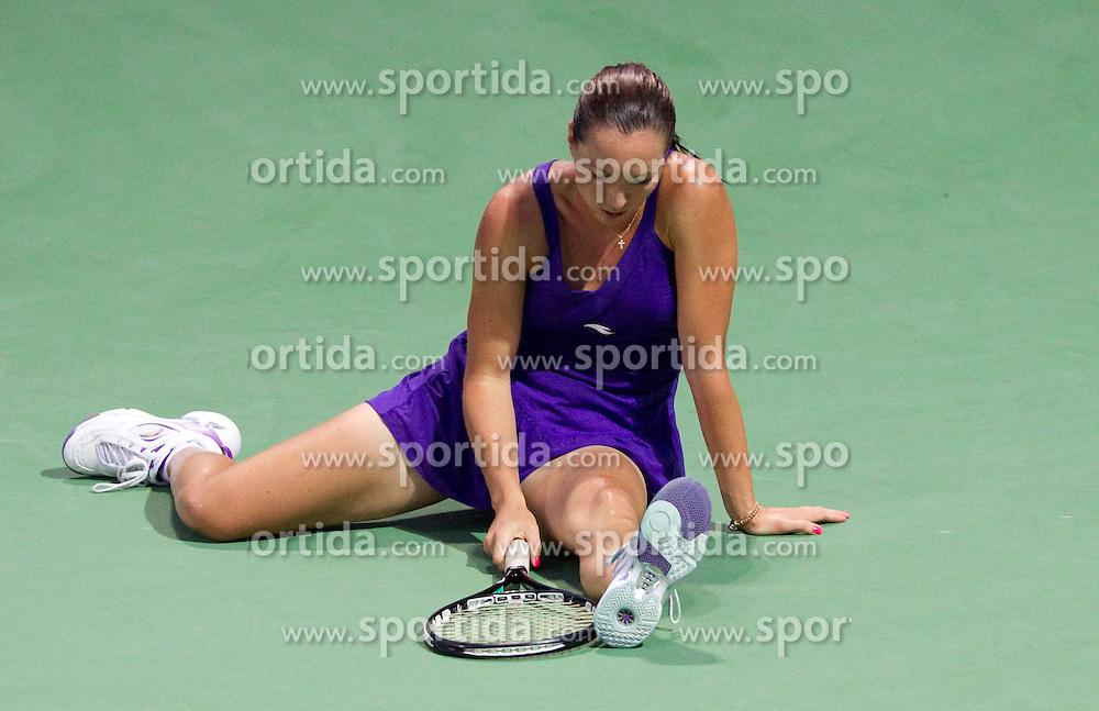Jelena Jankovic of Serbia at 2nd Round of Singles at Banka Koper Slovenia Open WTA Tour tennis tournament, on July 22, 2010 in Portoroz / Portorose, Slovenia. (Photo by Vid Ponikvar / Sportida)