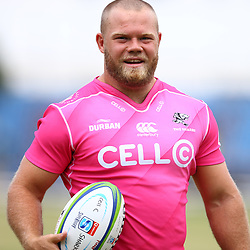 Akker van der Merwe during the cell c sharks pre season training session at  Growthpoint Kings Park ,25,01,2018 Photo by Steve Haag)