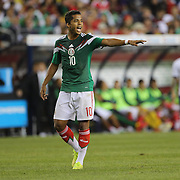 Giovani Dos Santos, Mexico, in action during the Portugal V Mexico International Friendly match in preparation for the 2014 FIFA World Cup in Brazil. Gillette Stadium, Boston (Foxborough), Massachusetts, USA. 6th June 2014. Photo Tim Clayton