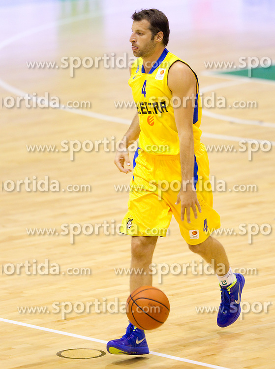 Theodoros Papaloukas  of Maccabi during basketball match between KK Zlatorog Lasko and Maccabi Electra Tel-Aviv in 2nd Round of ABA League, on October 3, 2011, in Arena Tri Lilije, Slovenia. (Photo by Vid Ponikvar / Sportida)