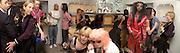 David Furnish, Jay Jopling, Sam Taylor Wood, Goldie ( behind) Phillipa Horan,  Pam Hogg, ( pink hair) Annabel Neilson and Sam Taylor Wood again, Alexander McQueen shop opening, London. 7 May 2003. © Copyright Photograph by Dafydd Jones 66 Stockwell Park Rd. London SW9 0DA Tel 020 7733 0108 www.dafjones.com
