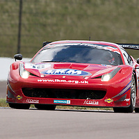 #18, Ferrari 458 Italia, F.F.Corse, driven by Gary Eastwood and Adam Carroll (+15), 03/05/2015. British GT Championships at Rockingham