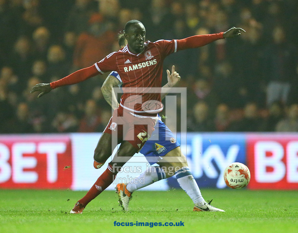 Albert Adomah of Middlesbrough during the Sky Bet Championship match at the Riverside Stadium, Middlesbrough<br /> Picture by Simon Moore/Focus Images Ltd 07807 671782<br /> 12/04/2016
