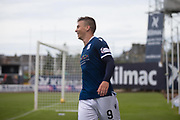 9th July 2019, Dens Park, Dundee, Scotland; Pre-season football friendly, Dundee versus Blackpool; Andrew Nelson of Dundee celebrates after scoring for 1-0 in the 42nd minute