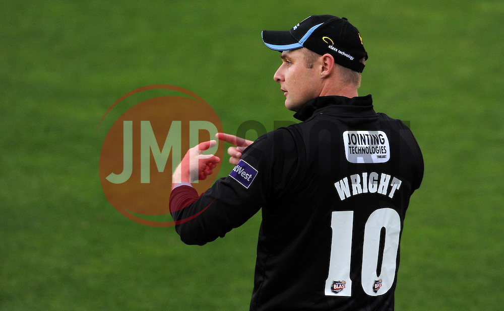 Sussex's Luke Wright Photo mandatory by-line: Harry Trump/JMP - Mobile: 07966 386802 - 22/05/15 - SPORT - CRICKET - Natwest T20 Blast - Somerset v Sussex Sharks - The County Ground, Taunton, England.