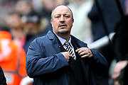 Newcastle United manager Rafael Benitez during the Premier League match between Newcastle United and Huddersfield Town at St. James's Park, Newcastle, England on 31 March 2018. Picture by Craig Doyle.