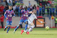 Ngolo KANTE / Maxime GONALONS - 09.05.2015 -  Caen / Lyon  - 36eme journee de Ligue 1<br />Photo : Vincent Michel / Icon Sport