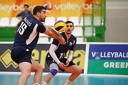 20170524 NED: 2018 FIVB Volleyball World Championship qualification, Koog aan de Zaan<br />Andreas - Dimitrios Fragkos (15) of Greece, Athanasios Protopsaltis (17) of Greece <br />©2017-FotoHoogendoorn.nl / Pim Waslander