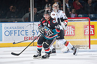 KELOWNA, CANADA - OCTOBER 22: Tyson Baillie #24 of the Kelowna Rockets skates against the Calgary Hitmen on October 22, 2013 at Prospera Place in Kelowna, British Columbia, Canada.   (Photo by Marissa Baecker/Shoot the Breeze)  ***  Local Caption  ***