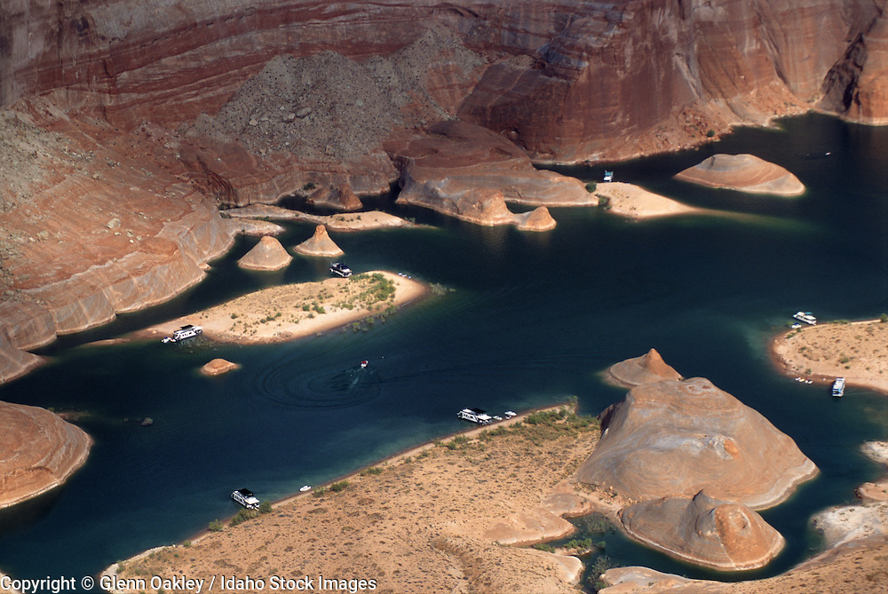 Aerial views of Lake Powell on the Utah/Arizona border