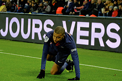 January 19, 2019 - Paris, Ile de France, France - Paris SG Forward KYLIAN MBAPPE in action during the French championship League 1 Conforama match Paris SG against EA Guingamp at the Parc des Princes Stadium in Paris - France..Paris SG won 9-0 (Credit Image: © Pierre Stevenin/ZUMA Wire)
